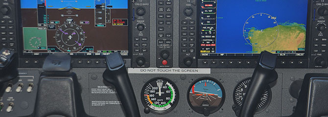 Garmin G1000 'glass cockpit'